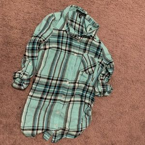 Blue flannel girls clothing